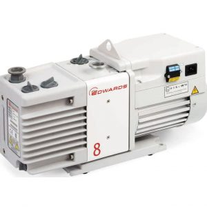 Edwards RV8 6.9 CFM Dual-Stage Vacuum Pump with Bellow & Fitting