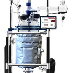 Ai Fully Customizable 10L Single/Dual Jacketed Glass Reactor