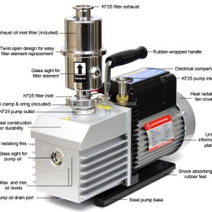 Ai EasyVac 9 cfm 2-Stage Vacuum Pump with Mist Filter ETL/CE features