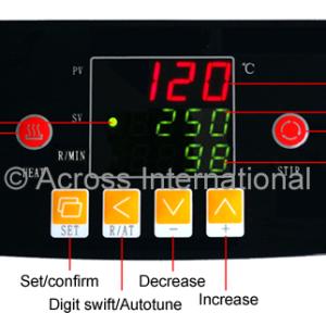 Ai DigiM 10L 300°C 2000 RPM Digital Heating & Stirring Mantle controls